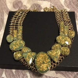 Light green and gold necklace